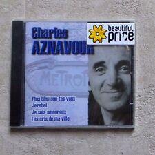 "CD AUDIO MUSIQUE/ CHARLES AZNAVOUR ""PLUS BLEU QUE TES YEUX"" CD BEST OF 2003 NEUF"