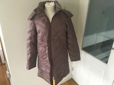 Women's Kenneth Cole Reaction Feather & Down Fur Trim Hooded Jacket Medium