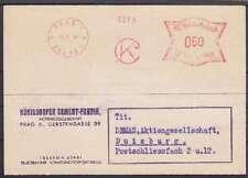 Böhmen Mähren 60 h. AFS Firmen Karte Prag Königshofer Cement AG - Duisburg 1942