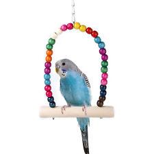 Neu Vogelspielzeug Papagei Vogel Vogelschaukel Spielzeug Nymphensittich Schaukel