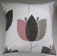 "16"" Cushion Cover in Next Retro Tulip Pink Matches Bedding Curtains"