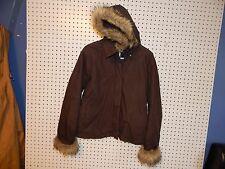 Womens Old Navy hooded winter jacket - medium - brown