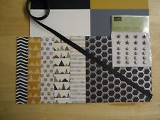"Stampin Up URBAN UNDERGROUND SPECIALTY 6 X 6"" Designer Paper Card Kit ribbon"