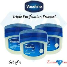 3 x Original Vaseline Petroleum Jelly For All Skin Types 250ml Triple Purificati