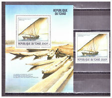 "CHAD: 1984 Mi: TD-474 & Mini Sheet ""Saiboat, Lake Chad"" MNH Set"