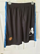 NIKE MANCHESTER UNITED Chicarito #14 KNIT TRAINING SHORTS Black SZ LG