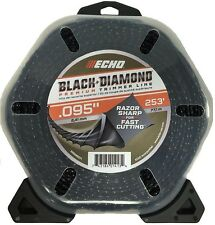 ECHO Trimmer Line String Black Diamond Fast Cutting Edging Trimming Grass Weeds
