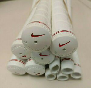 New Nike Golf Pride Tour Wrap Standard White / Red Grip .60 Rd *11 Pack*