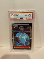1987 Donruss Bo Jackson Kansas City Royals Baseball Rookie Card PSA NM-MT+ 8.5