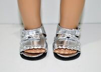 Our Generation American Girl Doll 18 Inch Dolls Clothes Shoes Silver Sandals