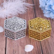 Candy Box Creative Plastic Hexagon Wedding Vintage Chocolate Gift Treat BN_es