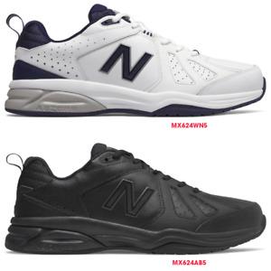 New Balance 624 V5 Mens (2E) Wide, Latest Model, Crosstrainer Leather Work Shoes