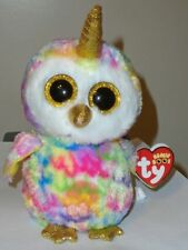 Ty Beanie Boos - ENCHANTED the Unicorn Owl / Uniowl (6 Inch) 2018 NEW - MWMT