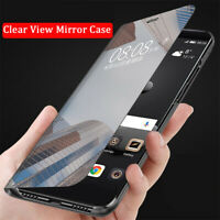 For Google Pixel 3A XL Luxury Clear View Smart Mirror Stand Slim Flip Case Cover