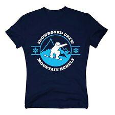 Herren T-Shirt - Snowboard Crew - Mountain Rebels - Winterurlaub Skiurlaub