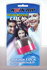 Drink Bottle Lock Protector Pink Combination Protect Drink Spiking Kwik Top