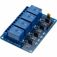 1PCS 4 Channels Relay Board Module for Arduino Raspberry Pi ARM AVR DSP PIC