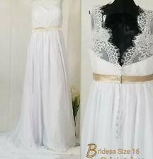 Bridess Wedding Gown w/ Train SIZE 16