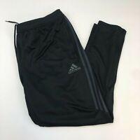 Adidas Climacool Track Pants Mens 2XL XXL Black Slim Fit Striped Leg Running