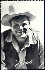 BONANZA Movie Star Postcard, Eric Hoss Cartwright Actor Dan Blocker 60s RPPC (4)