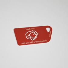 5 X Rosso esortazione all'azione NFC Tag in Plastica Key Card NXP Ntag 213 Android Samsung