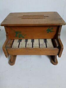 Antico Vecchio Pianoforte In Legno Giocattolo