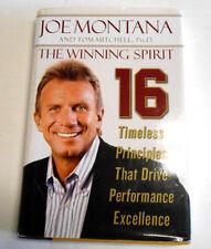 Joe Montana Tom Mitchell SF 49ers Book Winning Spirit Used Book - Author Signed