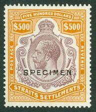 Malaysia straits settlements SG 240 (1921-33). The very rare $500 purple &...