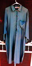 Coat Dress, Womens, Size Medium, MixIt Brand, Blue Rayon, Dolman Sleeves,