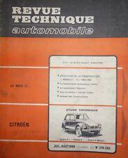 Revue technique CITROEN DYANE 4 DYANE 6 MEHARI 6 RTA 279 280 1969