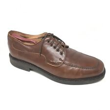 Men's Bostonian Strada Dress Shoes Oxford Size 10.5M Brown Leather Made Italy Q9