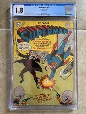 Superman #62 CGC 1.8 DC Comics 1950 Early Issue! Mr. Mxyztplk Orson Wells App.