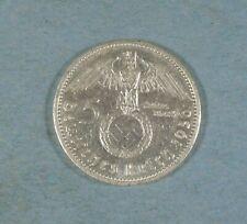 1936-G NAZI GERMANY 5 MARK COIN - SWASTIKA - SILVER
