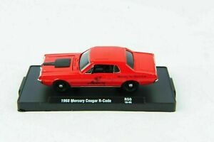 1:64 M2 Machines 1968 Mercury Cougar R-Code Red R50 Car Vehicle Model Toy Gift
