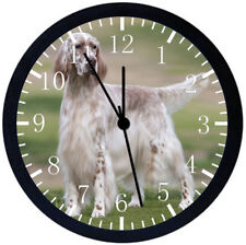 English Setter Black Frame Wall Clock Nice For Decor or Gifts F69