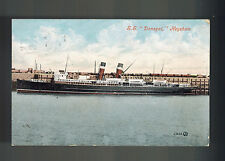 1906 Lancashire England Rms DonegalPicture Postcard Ship Cover to Keighley