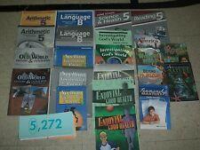 ABeka 5th Grade 5 LOT Language B Arithmetic Math History Science Spelling Health