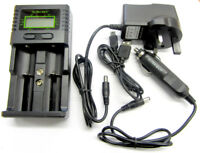 Universal Battery Charger Li-ion LiFePO4 NiMH NiCD AA AAA C 9V Rechargeable