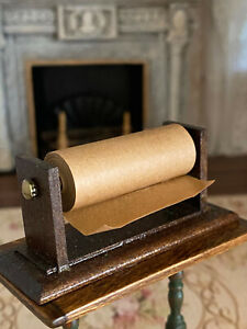 Vintage Miniature Dollhouse 1:12 Artisan Hand Made Butcher Shop Paper Roll Store