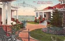 Santa Monica California Kensington Apartments Garden Antique Postcard J47722