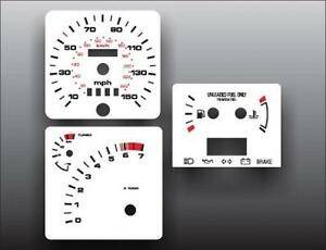 1985-1989 Ford Merkur XR4Ti White Face Gauges for Instrument Cluster 85-89