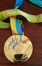 MICHAEL PHELPS Signed 2016 Rio Olympics Replica Gold Medal JSA Autograph Brazil