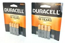 Duracell AAA Batteries - (2) Packs of 4 - Expiration 2029