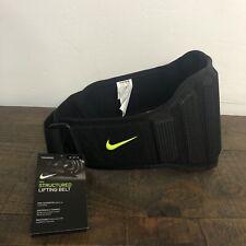 Nike Structured Lifting Belt 2.0 Size Medium Black/Volt (Waist Size 30-36)