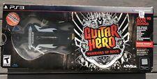 PS3 Guitar Hero : Warriors of Rock - Game w/ Wireless Guitar -BRAND NEW
