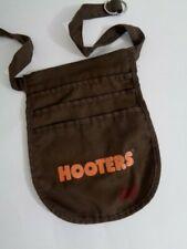 HOOTERS Brown Apron Womans Waist Money Tip Belt Waitress Uniform 3 Pocket Pouch