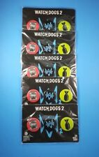 UBISOFT WatchDogs 2 Promotional Pin-Back Button Set LOT OF 5 Packs! Watch Dogs