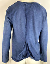 Cloth & Stone Womens Twist Back Hem Shirt Top Long Sleeve Blue size Small