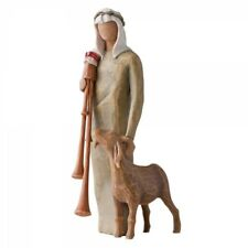 Willow Tree Christmas Decoration Nativity Story Set Zampognaro Shepherd Bagpipes