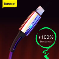 Baseus 5A USB Type C Charger Cable Fast Charging Lead Special for Huawei P20 Pro